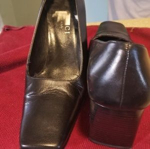 Gucci classic womens leather shoes BLACK color 5.5